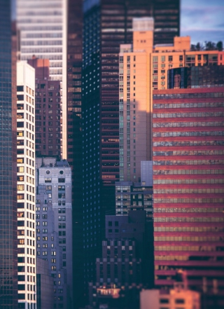 Manhattan Buildings Wallpaper for Nokia C1-01