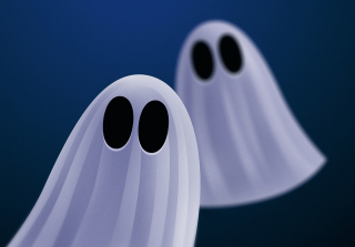 Ghosts Blue Wallpaper for Android, iPhone and iPad