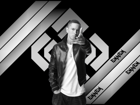 Screenshot №1 pro téma Eminem Black And White 480x360