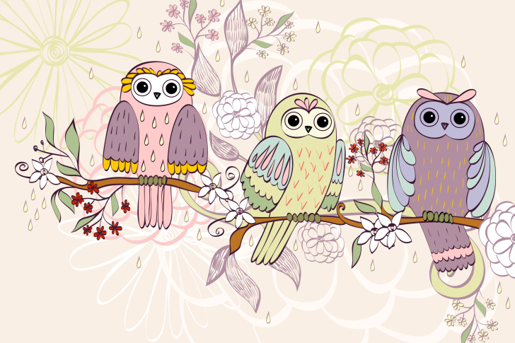 Owls Texture wallpaper