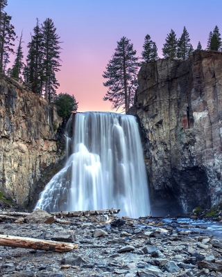 Waterfall in forest Wallpaper for iPhone 6 Plus