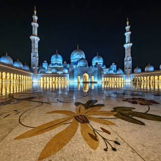 Kostenloses Abu Dhabi Islamic Center for Muslims Wallpaper für iPad 3