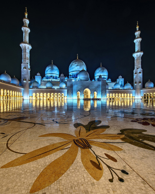 Abu Dhabi Islamic Center for Muslims Background for Nokia Asha 310