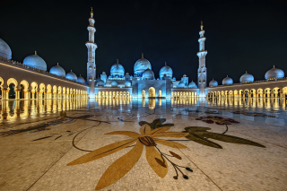 Abu Dhabi Islamic Center for Muslims sfondi gratuiti per Nokia Asha 205