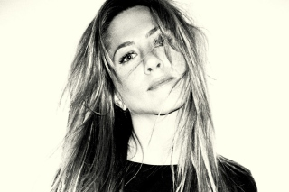 Jennifer Aniston Black And White Portrait Wallpaper for Android, iPhone and iPad