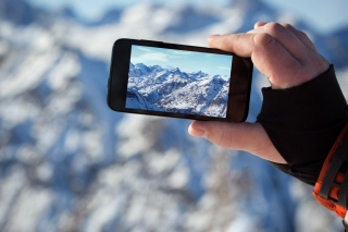 Glaciers photo on phone sfondi gratuiti per Samsung Galaxy Note 2 N7100