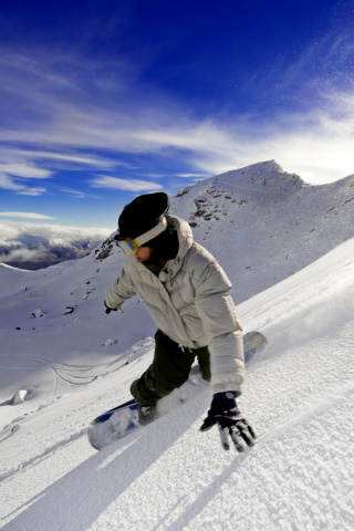 Screenshot №1 pro téma Outdoor activities as Snowboarding 320x480