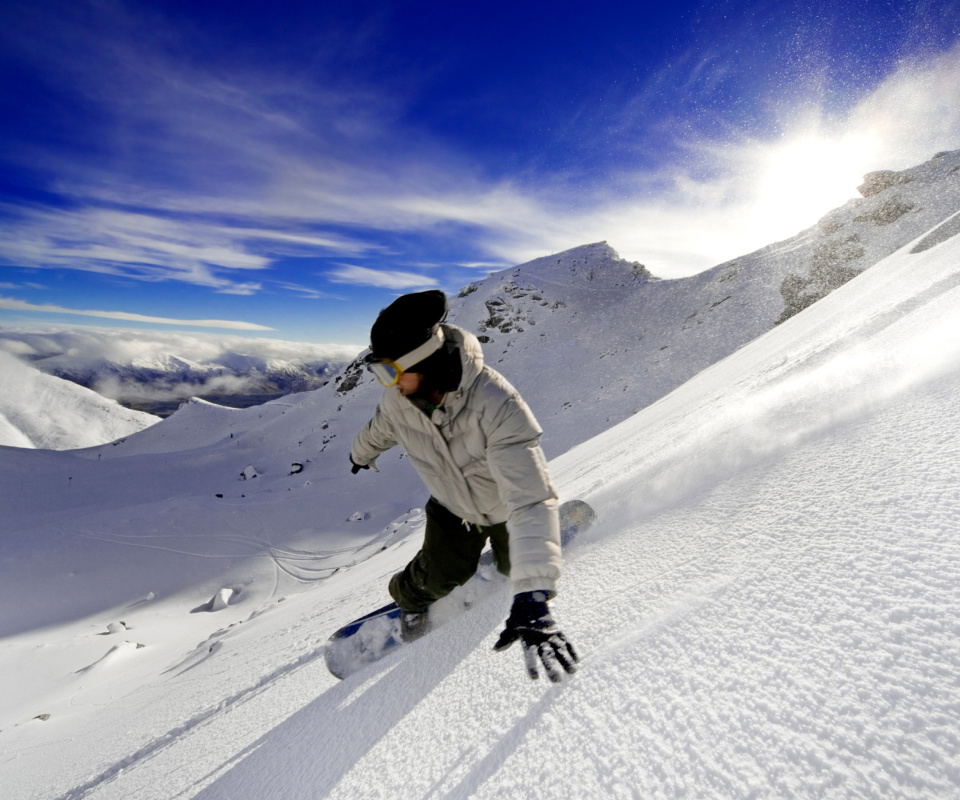 Screenshot №1 pro téma Outdoor activities as Snowboarding 960x800