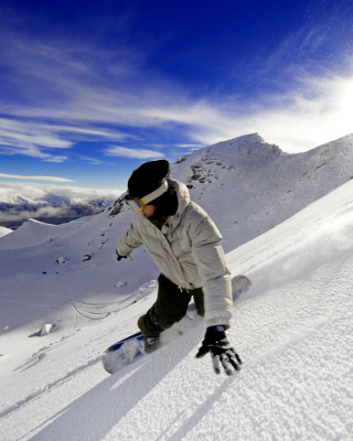 Kostenloses Outdoor activities as Snowboarding Wallpaper für 320x480