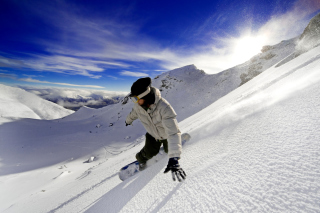 Kostenloses Outdoor activities as Snowboarding Wallpaper für Android 320x480