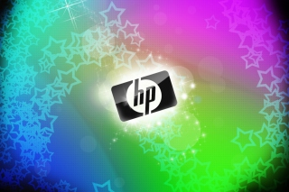 Rainbow Hp Logo Background for Android, iPhone and iPad
