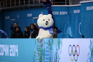 Sochi 2014 Olympics Teddy Bear Background for Android, iPhone and iPad