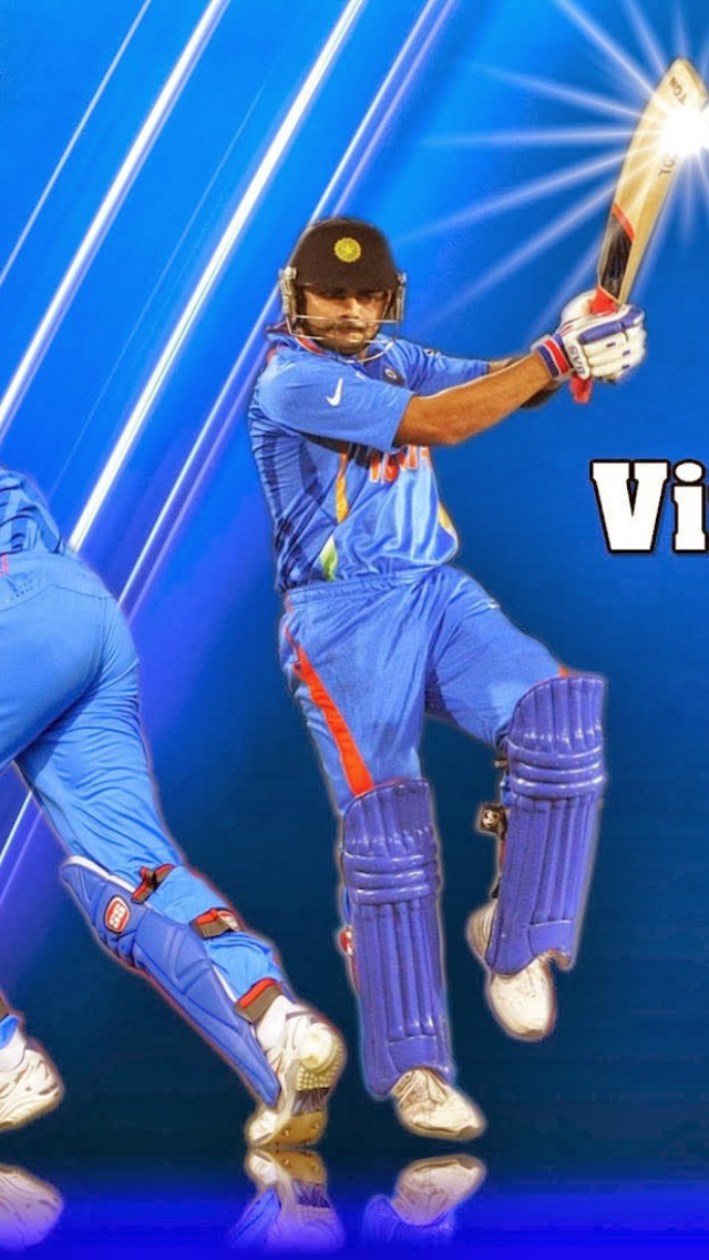 Screenshot №1 pro téma Virat Kohli and MS Dhoni 640x1136