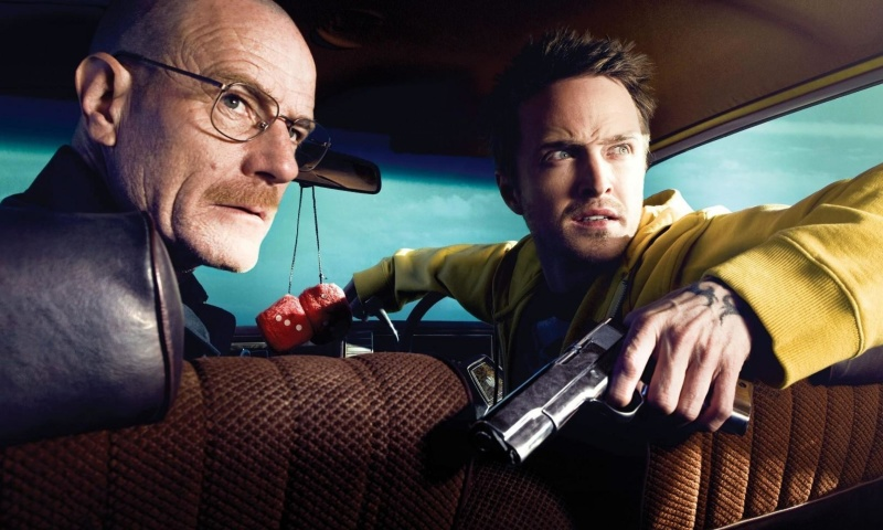 Screenshot №1 pro téma Jessie Pinkman Aaron Paul and Walter White Bryan Cranston Heisenberg in Breaking Bad 800x480
