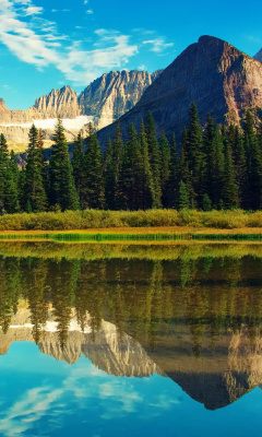 Screenshot №1 pro téma Glacier National Park in Montana 240x400