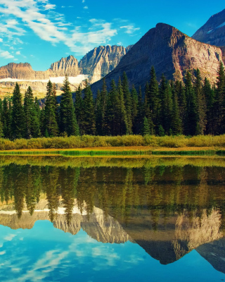 Glacier National Park in Montana Background for Nokia Asha 306