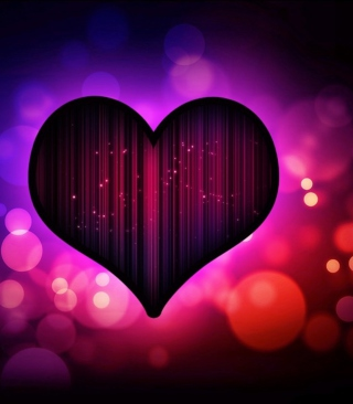 Neon Heart Background for Nokia C1-01