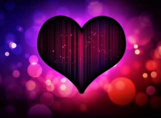Free Neon Heart Picture for Android, iPhone and iPad