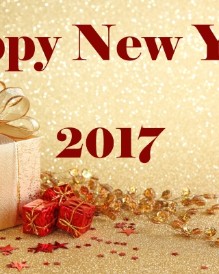 Happy New Year 2017 with Gifts - Obrázkek zdarma pro iPhone 6