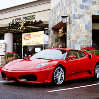 Ferrari F430 in City Wallpaper for iPad mini