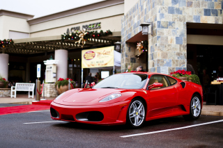 Ferrari F430 in City Background for Android, iPhone and iPad