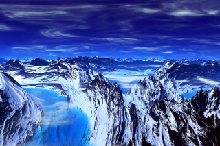 Blue Mountain Background for Android, iPhone and iPad