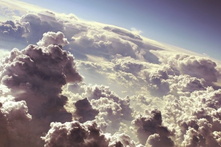 White Clouds Background for Android, iPhone and iPad