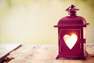 Heart Lantern Background for Android, iPhone and iPad