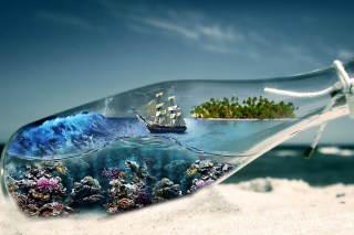 World in Bottle sfondi gratuiti per LG P700 Optimus L7