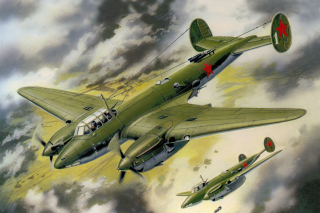 Petlyakov Pe 2 Soviet Bomber Wallpaper for Android, iPhone and iPad