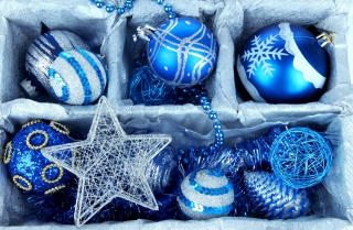 Blue Christmas Decorations - Fondos de pantalla gratis