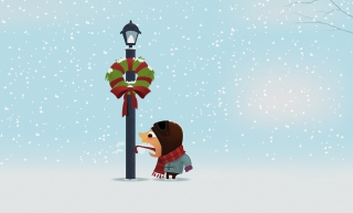Cold Christmas Day Wallpaper for Android, iPhone and iPad