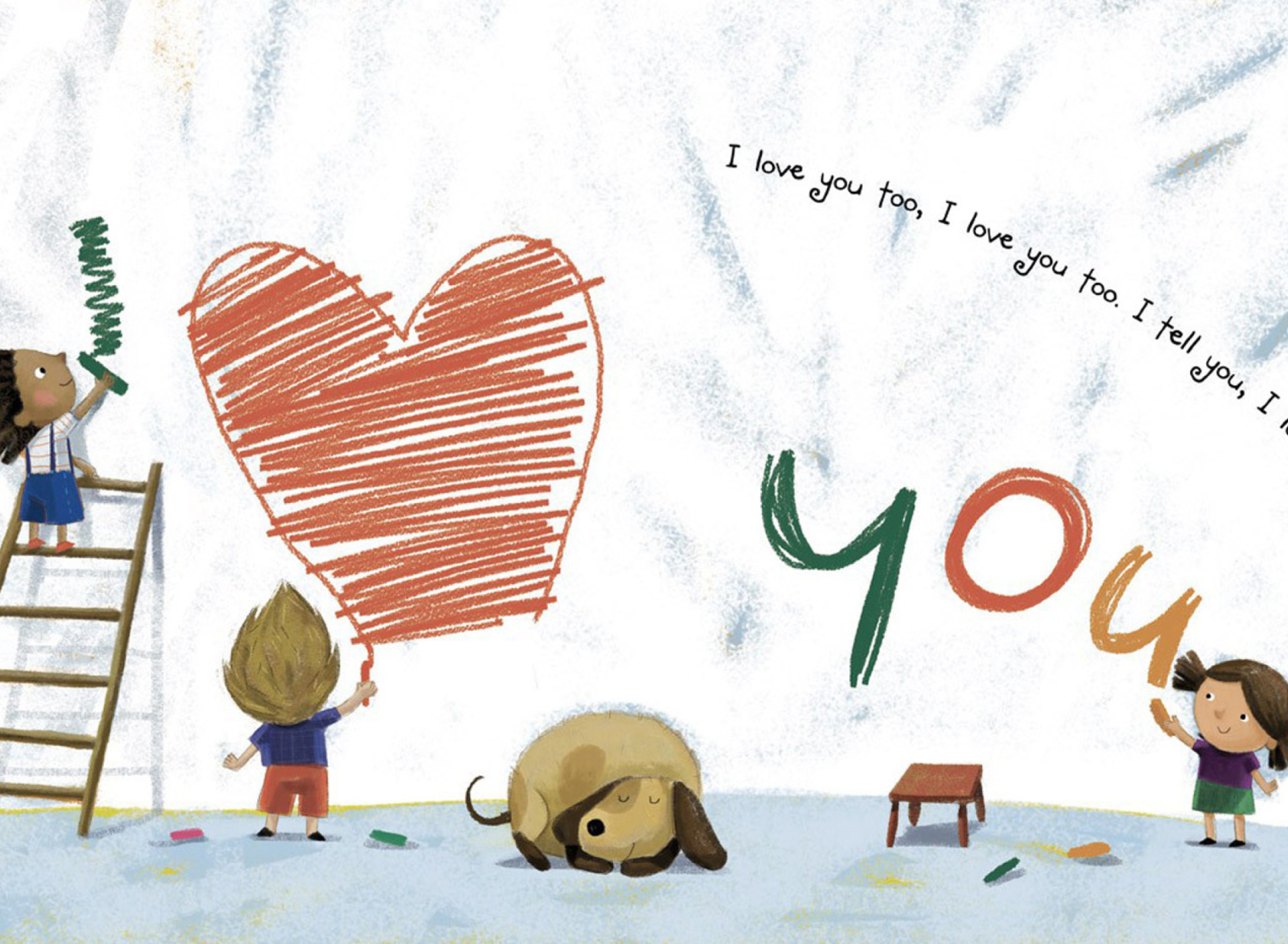 Screenshot №1 pro téma I Love You Creatures 1920x1408