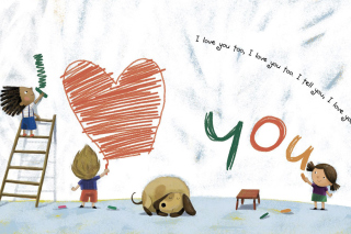 I Love You Creatures sfondi gratuiti per 1366x768
