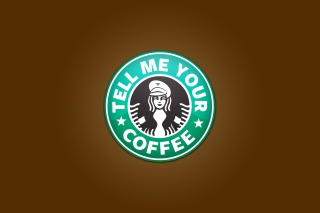 Starbucks Coffee Logo Background for Android, iPhone and iPad