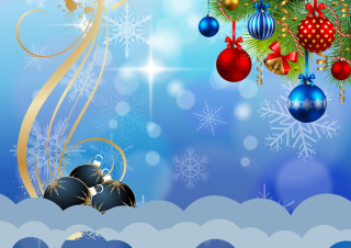 Christmas Garland Decor Background for Android, iPhone and iPad