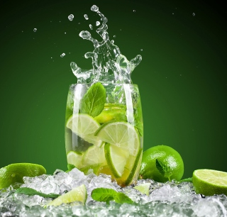 Glass With Lime - Fondos de pantalla gratis para 1024x1024