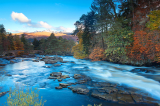 Landscape of mountain river Wallpaper for HTC Wildfire
