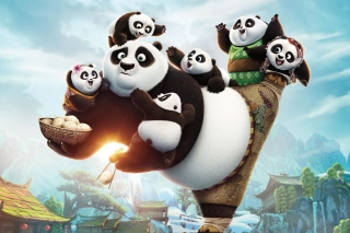 Kung Fu Panda Family sfondi gratuiti per cellulari Android, iPhone, iPad e desktop