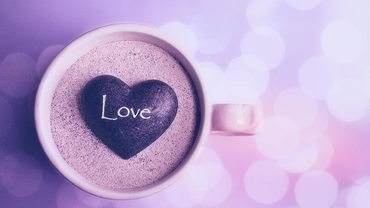 Love Heart In Coffee Cup