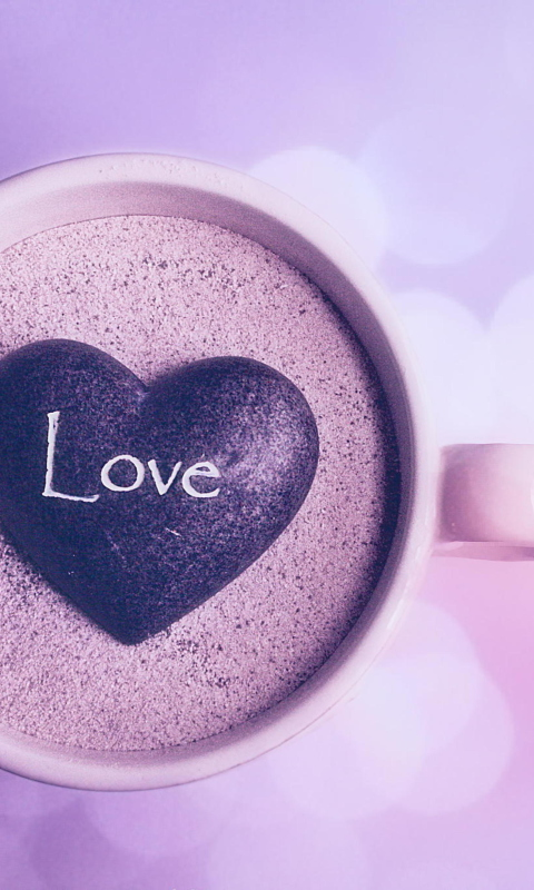 Love Wallpapers For Nokia Lumia 520 : Love Heart In coffee cup Wallpaper for Nokia Lumia 520