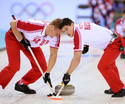 Screenshot №1 pro téma Russian curling team 480x400