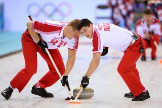 Russian curling team Picture for Android, iPhone and iPad