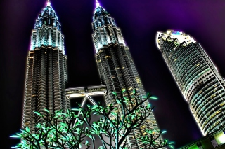 Malaysia, Petronas Towers Twins Background for Android, iPhone and iPad