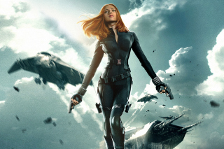 Captain America The Winter Soldier - Black Widow - Obrázkek zdarma pro 220x176