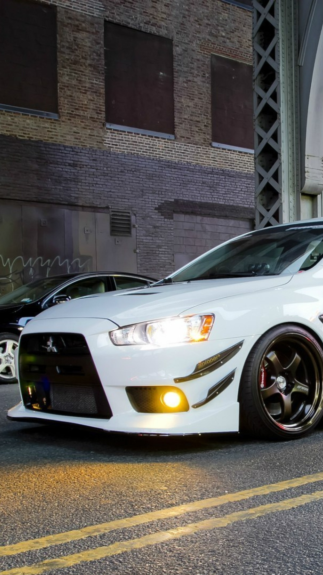 Screenshot №1 pro téma Street racing with Mitsubishi Lancer Evo X 1080x1920
