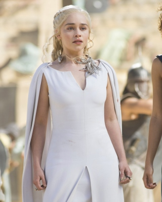 Game Of Thrones Emilia Clarke and Nathalie Emmanuel as Missandei papel de parede para celular para Nokia X6