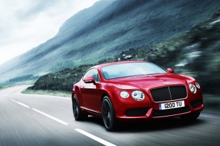 Free Red Bentley Continental Picture for Android, iPhone and iPad