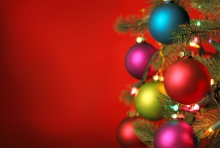 Christmas Tree Balls Wallpaper for Android, iPhone and iPad