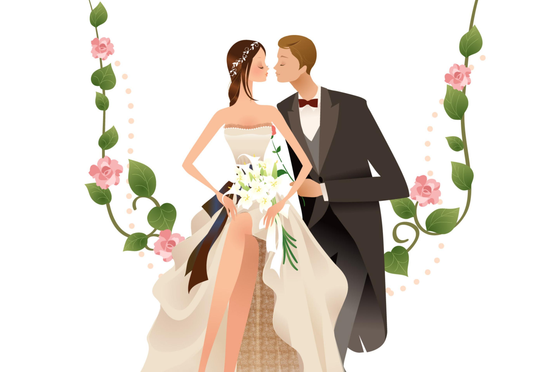 Открытки свадьба вектор